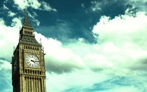 Picture the sky, clouds, arrows, London, tower, Watch, Big Ben, clock tower, Big Ben, Big Ben