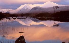 Picture stones, mountain, Snow