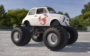 Picture scorpion, abarth, large wheels