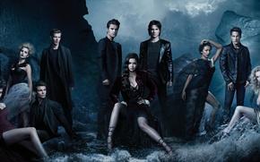 Picture the series, Nina Dobrev, The Vampire Diaries, Elena, The vampire diaries, Ian Somerhalder, Damon, Paul …