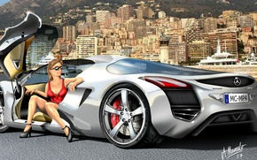 Picture mercedes, painting, supercars