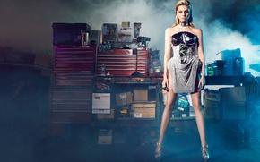 Picture model, smoke, makeup, figure, dress, actress, hairstyle, blonde, shoes, is, photoshoot, posing, Harper's Bazaar, Nicola …