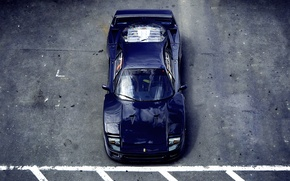 Picture asphalt, Parking, Ferrari, F40, Ferrari, blue, F40