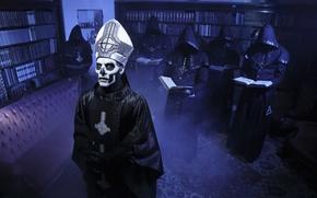 Picture metal, Ghost, band, heavy, doom, Swedish, Papa Emeritus II, Nameless Ghouls, Linköping