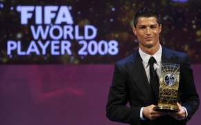 Picture football, star, celebrity, player, Ronaldo, ronaldo, cristiano ronaldo, fifa, best player in the world 2008, …