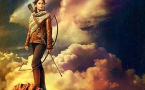 Picture Jennifer, guns, girl, gun, Action, rock, Fantasy, Fire, Games, sky, woman, cloud, beautiful, glamour, The, …