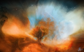Picture space, nebula, JoeJesus, zesty