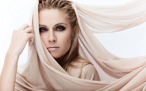Picture look, girl, style, makeup, shawl