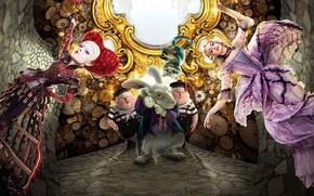 Picture cinema, red, fantasy, Disney, Alice in Wonderland, red hair, hat, nothing, cat, Alice, movie, redhead, …