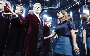 Picture girl, reflection, actress, actor, male, Doctor Who, Doctor Who, Peter Capaldi, Peter Capaldi, Clara Oswald, …