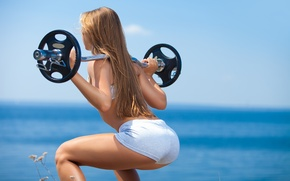 Picture sea, ocean, workout, fitness