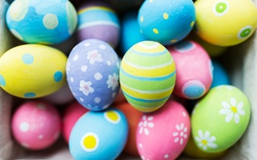 Picture macro, eggs, Easter, colorful, Easter, Holidays, Eggs