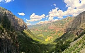 Picture forest, mountains, Colorado, canyon, Colorado, Box Canyon
