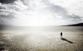 Wallpaper light, loneliness, desert
