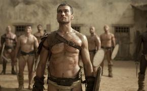 Picture warrior, Gladiator, Spartacus, spartacus, sand and blood