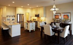 Picture interior, the ceiling, kitchen, design pattern