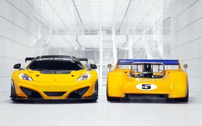 Picture McLaren, McLaren, 1970, the front, and, racing cars, 12C, M8D, Can-Am Edition