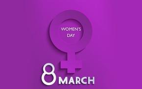 Wallpaper congratulations, March 8, women's day
