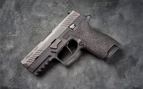 Wallpaper gun, background, Sig Sauer, P320