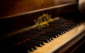 Picture music, background, Old Piano