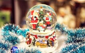 Picture new year, Santa, 2013, Snow globe, snow globe