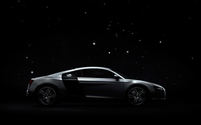 Wallpaper audi, night, profile