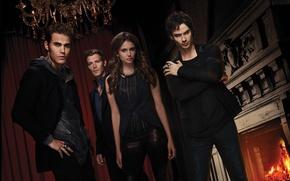 Picture Nina Dobrev, Nina Dobrev, The Vampire Diaries, The vampire diaries, Ian Somerhalder, Ian Somerhalder, Paul …