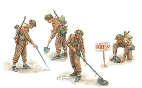 Picture art, soldiers, engineers, British, Royal, WW2., engineers