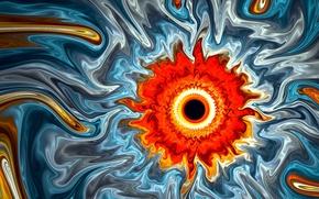 Picture the sun, black hole, art, black hole