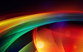 Picture wave, strip, point, color, radar