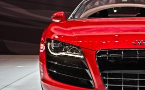 Picture auto, Audi, Machine, red
