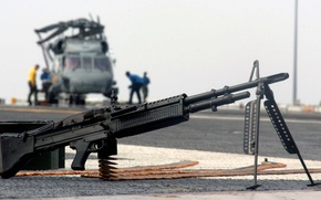 Picture the carrier, USA, helicopter, M60, 7.62 mm, American single machine gun