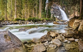 Picture forest, waterfall, Austria, Michael Breitung