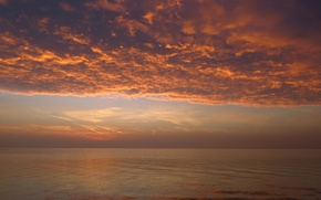 Picture the sky, clouds, lake, dawn, horizon, sky, clouds, lake, sunrise, Hungary, Hungary, Balaton, Balaton