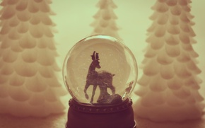 Wallpaper toy, tree, ball, spruce, Christmas, New year, tree, herringbone, Christmas, goat, bokeh, New Year, goat, ...