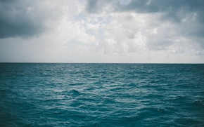 Picture sea, clouds, the ocean, horizon, sea, ocean, infinity, clouds, infinity, horizon, gray clouds, gray clouds