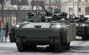 Picture Kurganets-25, May 9, Moscow, Rehearsal, BMP, Victory Parade