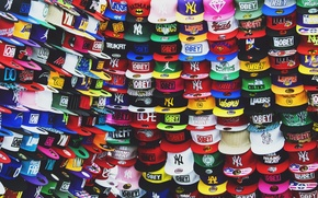 Picture background, color, caps