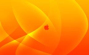 Picture apple, mac, logo, yellow, orange