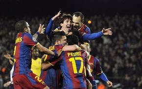 Picture Football, Lionel Messi, Barcelona, David Villa, Joy, Andres Iniesta, Daniel Alves, Pedro Rodriguez