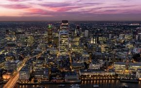 Picture twilight, dusk, London, England, cityscape