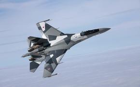 Picture flight, fighter, Su-35