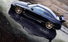 Picture puddle, Nissan, casting, skyline, Nissan, gt-r, r33