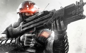 Picture weapons, machine, male, character, splinter cell: black list