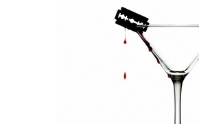 Wallpaper blade, Minimalism, blood
