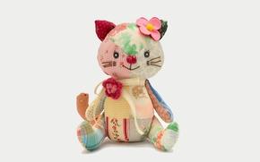 Picture kitty, kitten, teddy bear, puppet, Teddy bear, puppet, Plush Toy, Plush toy