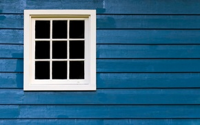 Picture white, wood, blue, window