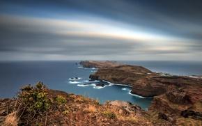 Picture the sky, Islands, the ocean, rocks, excerpt, Portugal, Madeira, archipelago, Autonomous region