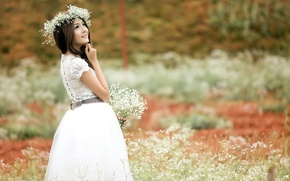 Picture summer, girl, flowers, beauty