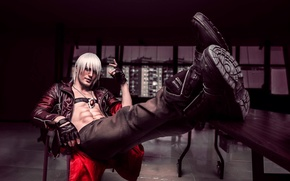 Picture anime, art, guy, devil may cry, dante